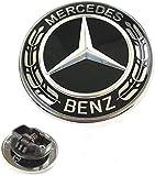 IGGY Compatible Emblème à étoile plat pour capot avec guirlande noire pour classe C et W203 W204
