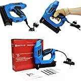 Electric Brad Nailer, 18GA 2-in-1 Nailer, 5/8'' ~ 1-1/4'' Nail Length, Electric Nail Gun/Staple Gun for Upholstery, Carpentry and Woodworking Projects