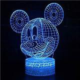 3D ilusión nocturna lámpara 3D ilusión óptica lámpara 16...