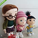 DESPICABLE ME Agnes Edith Margo PLUSH STUFFED DOLL SOFT TOYS,Set of 3 NEW