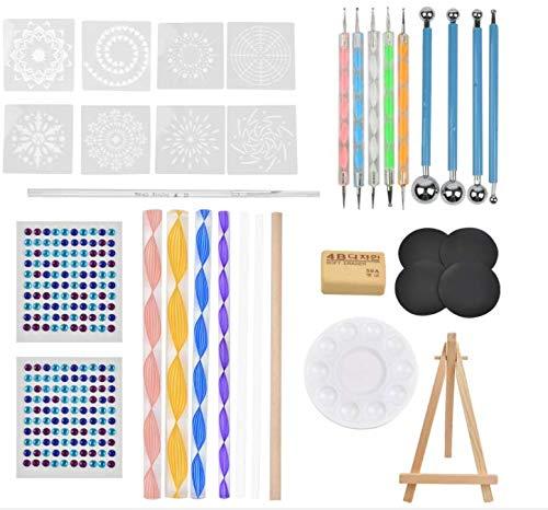 TIMESETL 31 piezas Mandala Rock Herramientas de punteo Herramientas de pintura de roca Herramientas de punteado Kit de pintura de puntos para pintura DIY Arcilla polimérica Cerámica Nail Art Crafts