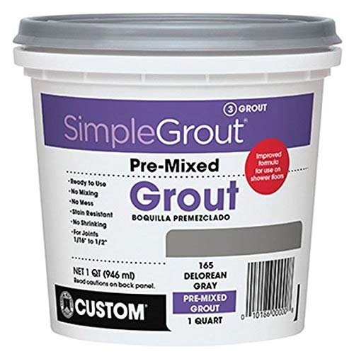 Custom, Bright White PMG381QT 1-Quart Simple Premium Grout