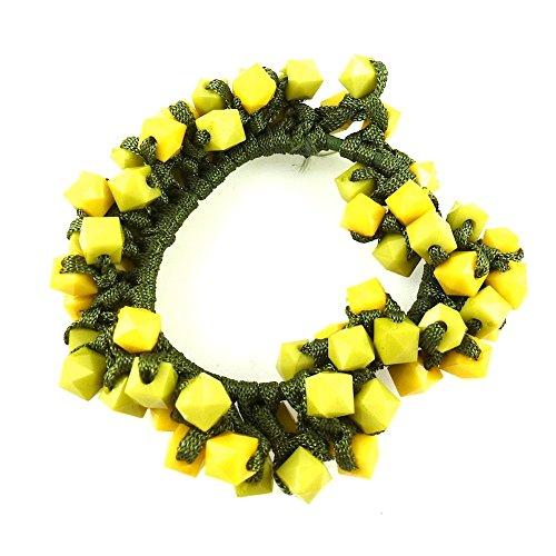 rougecaramel - Accessoires cheveux - Elastique cheveux ou bracelet perles - jaune