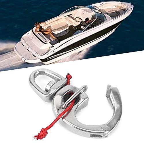 Gancho de presión para barcos, práctico gancho de presión de acero inoxidable Universal conveniente rotación de 360 ° Acero inoxidable 316 Durable para suministros de gancho para
