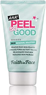 Faith in Face AHA Peel So Good Skin Renewal Peeling Gel, Deep Clean Facial Scrub Revitalize Skins Exfoliate Remove Dead Cells Dark Spot Gentle Brighten Face Korean Skincare, 4.22 fl oz
