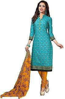 Any Designer Women's Cotton With Lakda Jaquard Fancy salwar suit