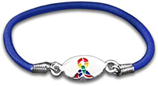 Fundraising For A Cause 25 Pack Autism Awareness Ribbon Stretch Bracelets (Wholesale Pack - 25 Bracelets)
