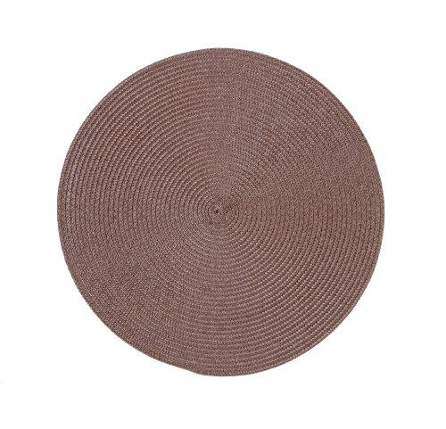 Stuco trends textile 2003-9 4er Pack, Tischset Rund 35 cm, 100% Polypropylen, Schoko