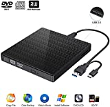 Comter External CD DVD Drive, USB 3.0 USB-C CD DVD RW Reader Rewriter