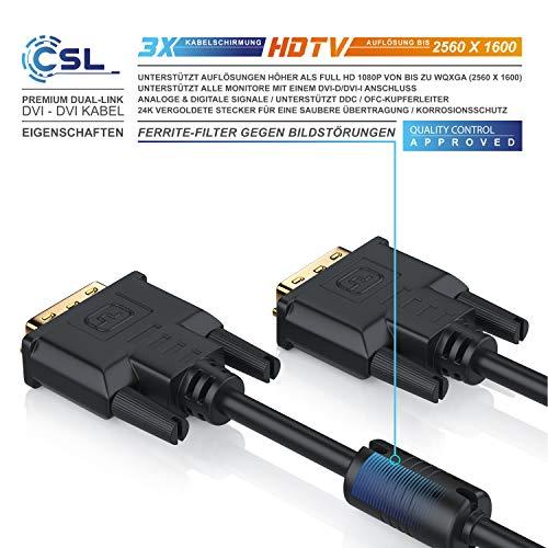CSL – Dual Link DVI-D Kabel mit 144Hz Unterstützung - 3