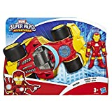 Playskool Heroes Marvel Super Hero Adventures Iron Man Speedster, 5 Inch Figure and Vehicle Set, Collectible Toys for Kids Ages 3 and Up