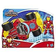 Playskool Heroes Marvel Super Hero Adventures Iron Man Speedster, 5 Inch Figure and Vehicle Set, Col...