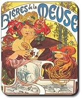 Mucha - Bieres De La Meuse Mouse Pad - by Art Plates [並行輸入品]