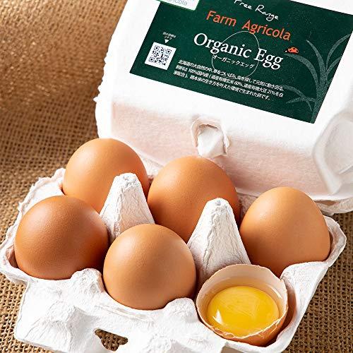 オーガニックエッグ 有機卵 6個×4パック 有機JAS (北海道 Farm Agricola) 産地直送 たまご ふるさと21