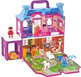 AVINT Kids New Toy Set Dream Palace Doll House with Light, Furniture, Figurines for Kids 40 Pcs (Multi)