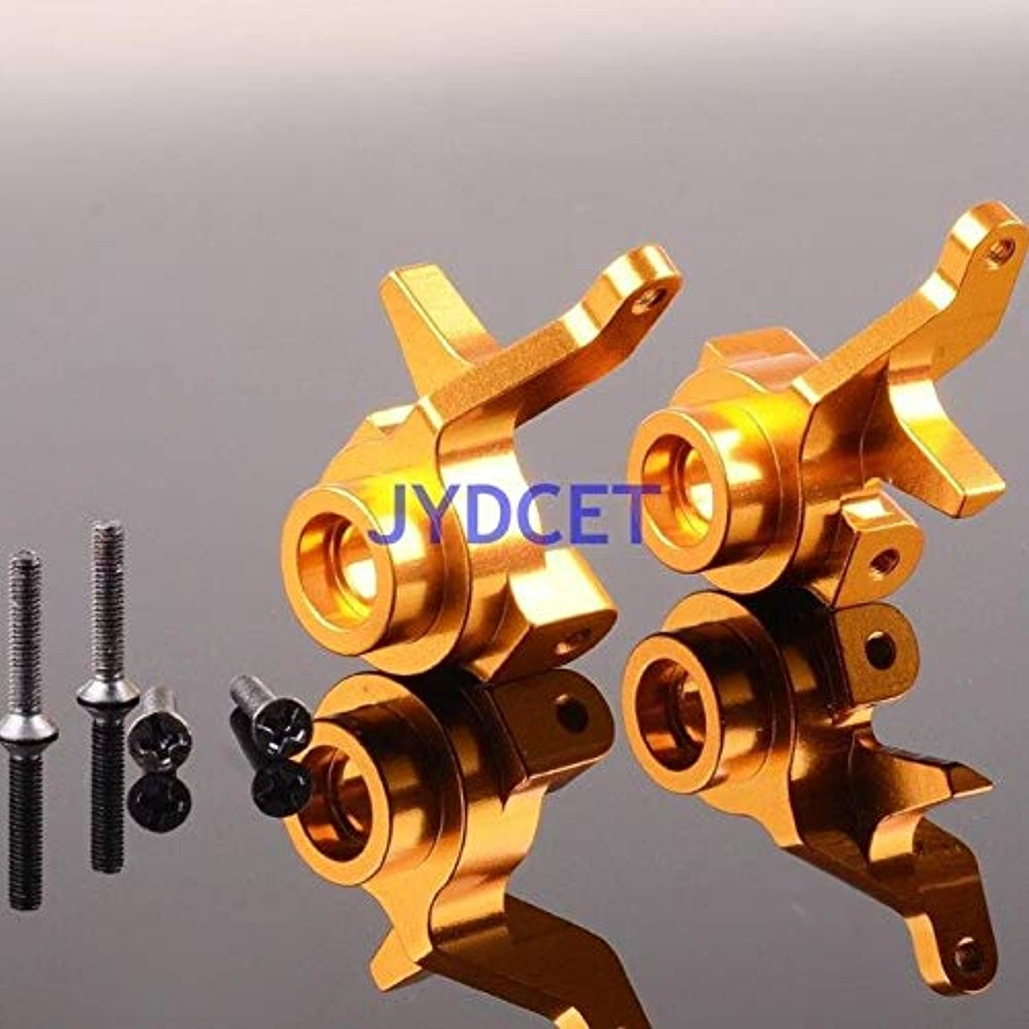 33001 Front Aluminum Knuckle Arm Set for 1 10 Electric Himoto E10 E10MT E10MTL Bowie Off Road Monster Truck Upgrade Parts   gold