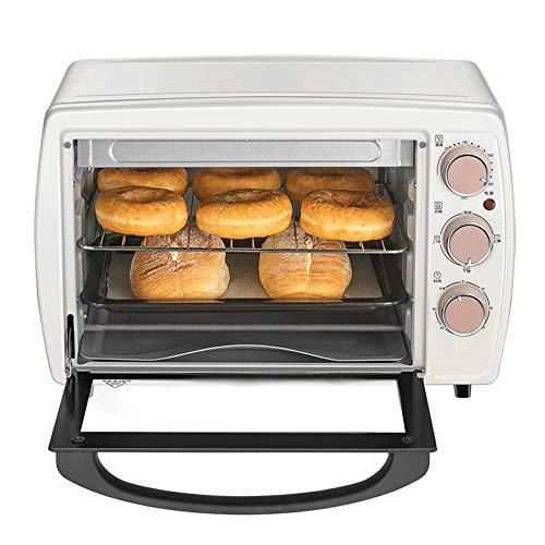 LQRYJDZ Mini 20 litros horno tostador con Timer-Toast Ajustes Broil, 1200W caliente Horno de convección, for tostar, hornear, Pizza, interior antiadherente, Incluye recipiente for hornear, parrilla