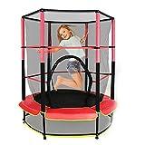 OUKANING 50kg Ø140cm Kinder Fitness Trampolin Jumper Mini Federung Jumping Jog Schutznetz