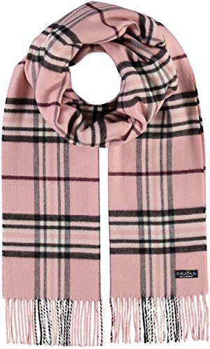 FRAAS Schal aus reinem Cashmink für Damen & Herren - Made in Germany - XXL-Schal - The Plaid - weicher als Kaschmir - Perfekt für den Winter Hellrosa