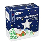 Jeka German Pyramid Candles Large White 17mm CDD050X100XW