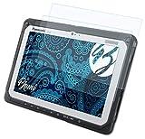 Bruni Schutzfolie kompatibel mit Panasonic ToughPad FZ-A2 Folie, glasklare Bildschirmschutzfolie (2X)