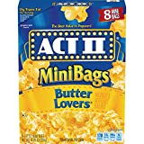 ACT II Butter Lovers Microwave Popcorn, 8-Count 1.41-oz. Mini Bags (Pack of 6)