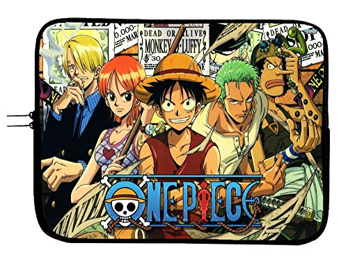 One Piece Anime Laptop Notebook Case Sleeve Bag 13 13.3' Mac Book Pro/MacBook Air Surface Pro Laptop/Tablet Water Repellent Neoprene Cushioned Case