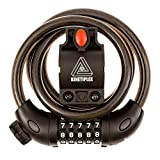 Kinetiplex Universal 5 Digit Combination Code Bicycle Cable Lock, 3...