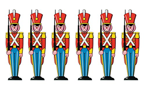 Beistle Toy Soldier Cutouts 35.5', Pack of 6