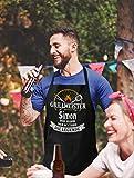 Shirtoo Grillschürze mit Spruch personalisierbar - Grillmeister [Wunschname] der Mann, der Mythos, die Legende schwarz - 3