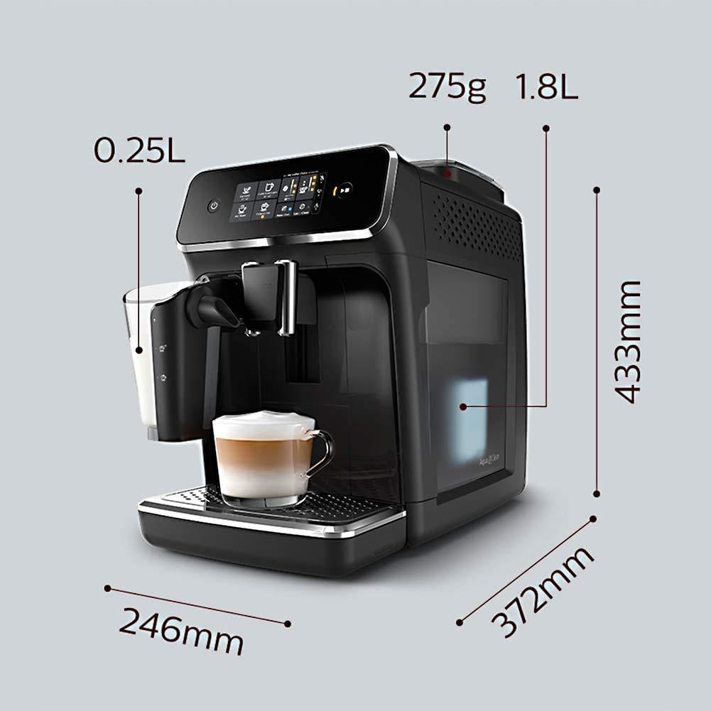 Cafetera Máquinas de café completamente automático italiano moler el café de la máquina con pantalla táctil de visualización con el sistema Batidor de leche con un solo botón Cappuccino-Bblack RVTYR: Amazon.es: Bricolaje