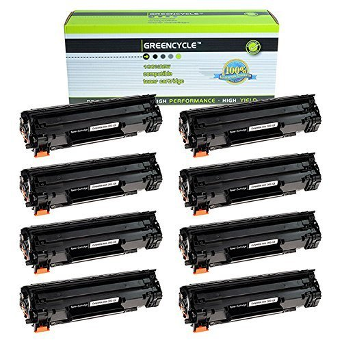 GREENCYCLE 8 PK Toner Cartridge Replacement Compatible for Canon 128 (3500B001AA) Black Toners use in Imageclass D530 MF4580dn MF4412