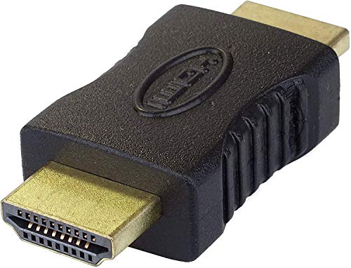 PremiumCord HDMI Kupplung Vergoldete Kontakte, HDMI Typ A Stecker auf Stecker - für FULL HD 1080p, 3D, Farbe schwarz