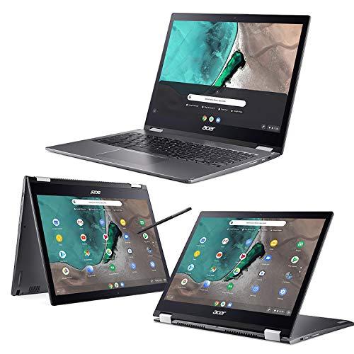 "Acer Chromebook, Touchscreen, Spin 13 CP713-1WN-P1WB Notebook, Processore Intel Pentium 4417U, RAM 4 GB DDR3, eMMC 64 GB, Display 13.5"" QHD IPS Multi-touch LED, Intel HD 610, Chrome OS, Grigio, [CB]"