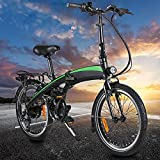 Velo Electrique, moma Bikes Electrique, Vélo Adulte, Cadre Pliant de vélo électrique 250W 20PoucesVélo électriqueBatterie au Lithium-ION cachée de 7,5AHAmovible