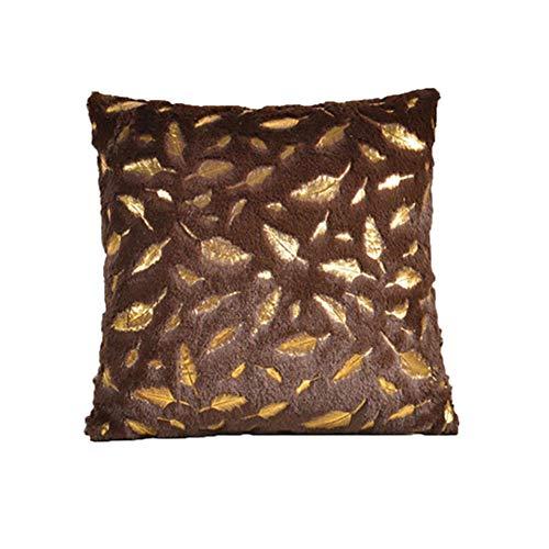 Hugyou - Funda de almohada con diseño de plumas, diseño creativo