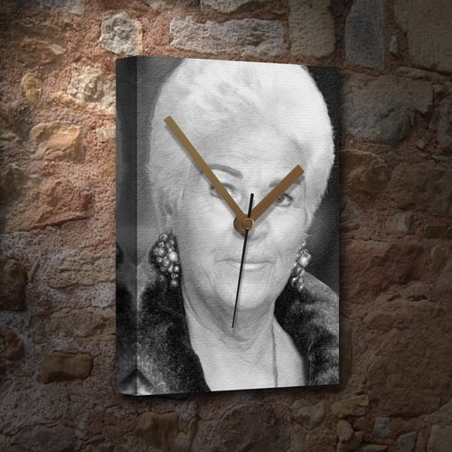 PAM ST.CLEMENT - Canvas Clock (LARGE A3 - Signed by the Artist) #js001 by Canvas Clocks (LARGE A3) -...