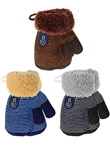 3 Pairs Toddler Winter Mittens G...