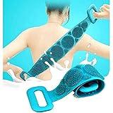 SKYOWL ENTERPRISE Silicone Body Scrubber/Bath Body Cleaning Belt/Skin Brush Belt For Skin/Bathing/Body Dirt Removal For Kids Men's & Women Multi color