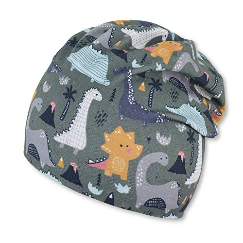 Sterntaler Baby-Jungen Slouch 1612161 Beanie-Mütze, dunkelgrün, 45