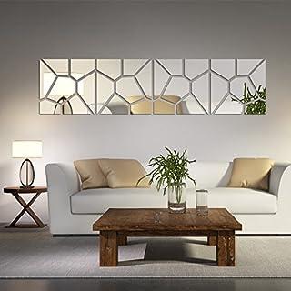pegatinas de pared de decoración para el hogar que viven patrón de la moda moderna acrílico espejo grande grande etiqueta de la pared 3d