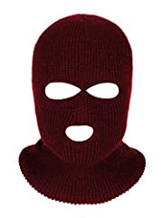 Warm face mask: this knitted face cover is a useful accessory to keep your entire head and face warmer in cold winter 3 Hole design: the precision cutting of 3 holes keeps the eyes and mouth exposed for maximum efficiency while wearing; This a better...