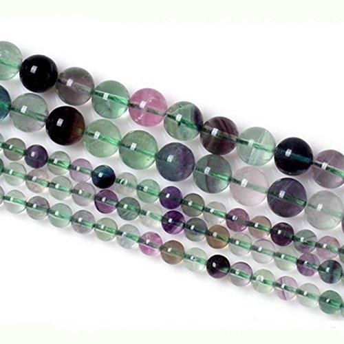 Perles rondes colorées en fluorite pour la fabrication de bijoux - 6 mm, 8 mm, 10 mm, 12 mm