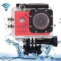 スポーツカメラについては、 防水ケースと SJ7000フルHD 1080P 2.0インチの液晶画面NOVATEK 96655 WiFiのスポーツビデオカメラカメラ、170度HD広角レンズ、30メートル防水(ブラック) (色 : Blue)