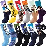Moyel Fun Socks For Women, Art Novelty Cool Funny Funky Crazy Dress Socks, Pack