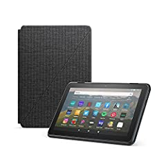 Designed by Amazon to protect and perfectly fit your Fire HD 8 tablet (compatible with 10th generation, 2020 release). Slim design with built-in stand for hands-free viewing in landscape or portrait orientation. Full-cover case with magnetic connecti...