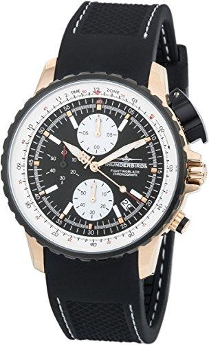 Thunderbirds 1057-02-K01 TB1057-02-K01 Herren-Armbanduhr Silikonarmband Schwarz