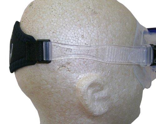 Oceanic Comfort Gepolstert mit Silikon-Maskenriemen, für Tauchen, transparent