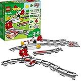 LEGO DUPLOTown BinariFerroviari, Set di Costruzioni con Mattoncino Rosso d'Azione, 10882