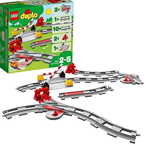 LEGO10882DuploTownVíasferroviarias,JuguetedeConstrucciónpara